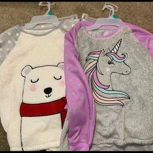 Wonder nation unicorn and bear pj sets